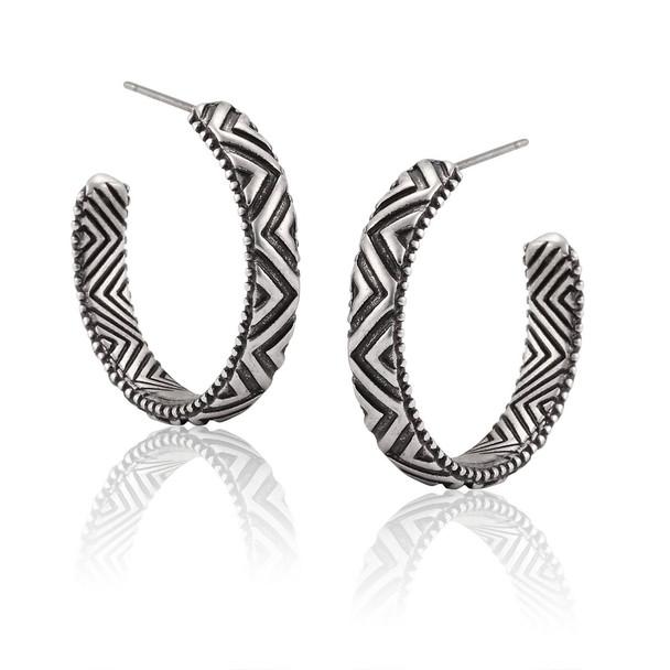 Tibetan Hoop Laurel Burch Earrings 6103