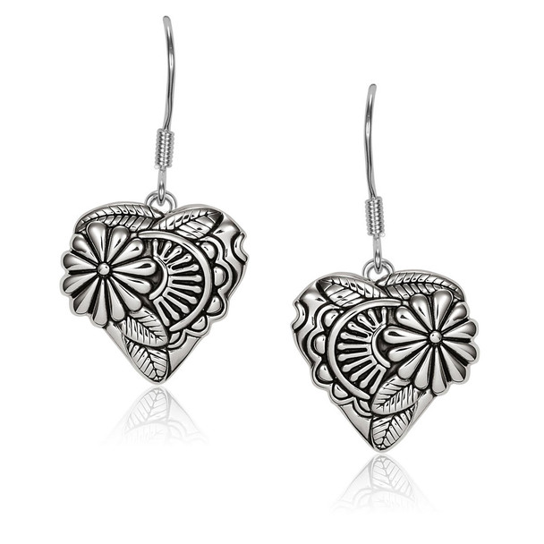 Flowering Heart Sterling Silver Laurel Burch Earrings - 4025