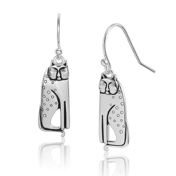 Siamese Sterling Laurel Burch Earrings 4037