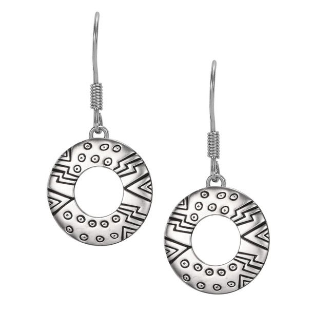 Laurel's Om Sterling Laurel Burch Earrings 4054