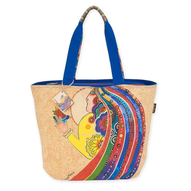 Laurel Burch Rose With Bird Shoulder Tote LB5791