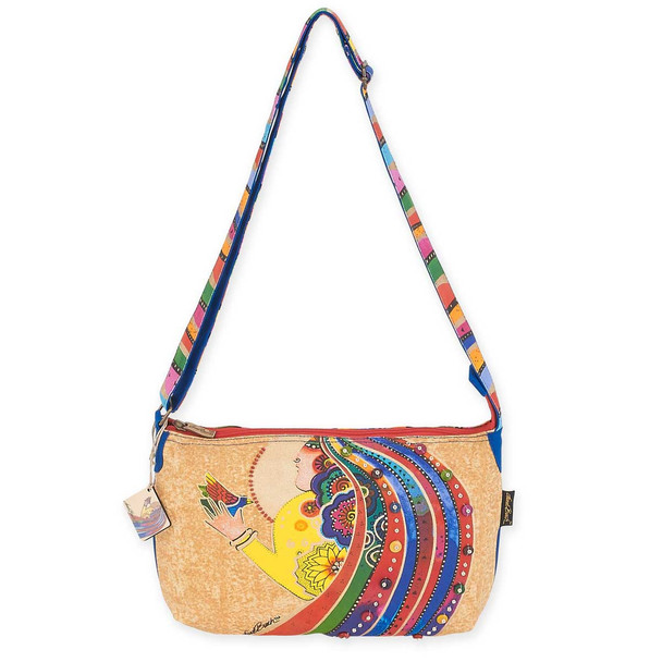 Laurel Burch Rose With Bird Medium Tote LB5793