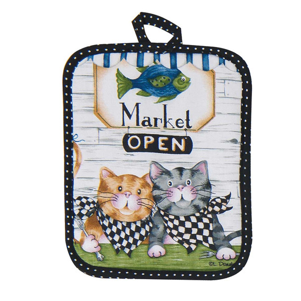 Cat Fish Market Pot Holder R3062
