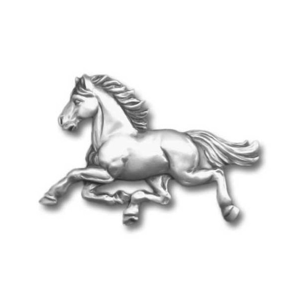 Horse Galloping Pewter Pin 1354PP