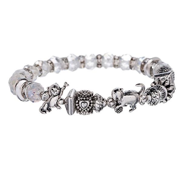 Cat Beads Crystal Bracelet - B2362