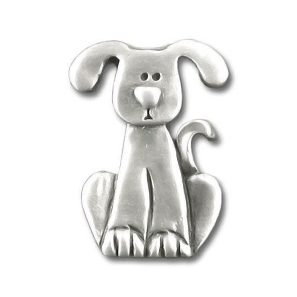 Dog with Drop Ears Pewter Clutch Pin 3997CP