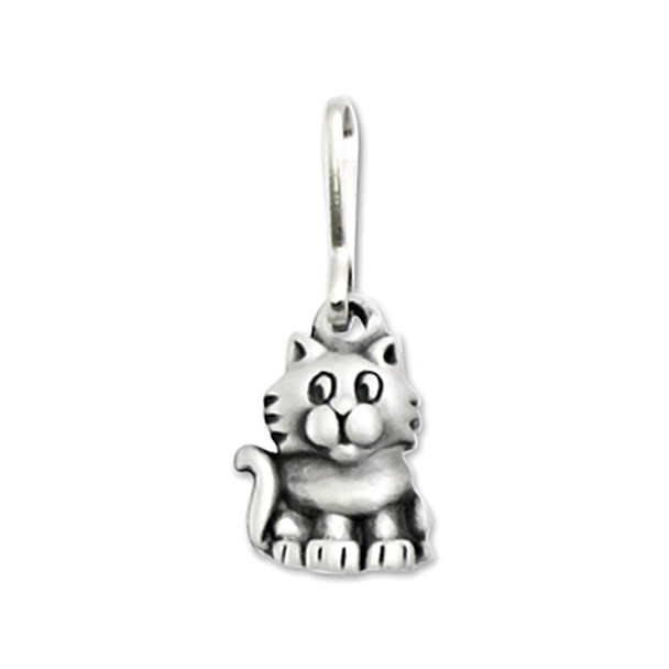 Cute Kitty Cat Pewter Zipper Pull 2674ZP