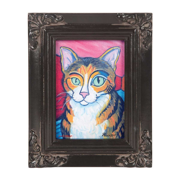 Brown Tabby Pawcasso Paw Palettes Canvas Wall Art 12063