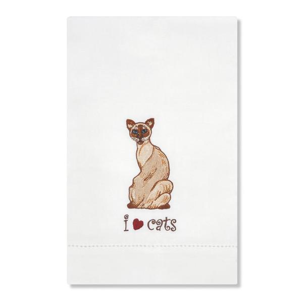 Siamese Cat Embroidered Tea Towel 45420
