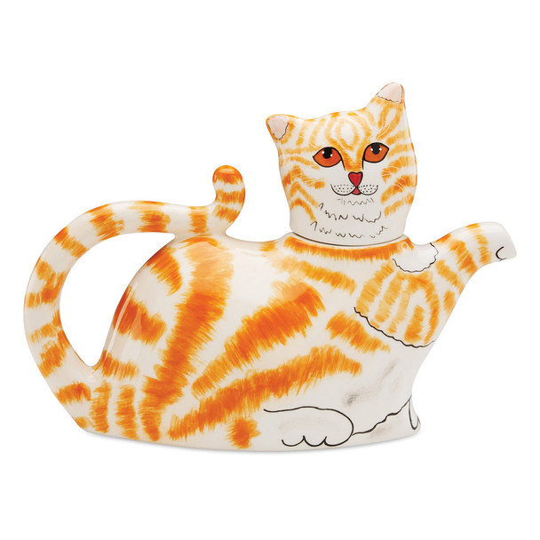 Orange Tabby Cat Cat-Shape Teapot 45421