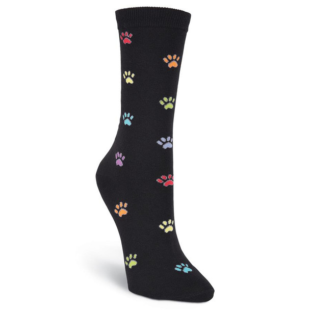 "Cat Socks ""Pawprints"" - Black"