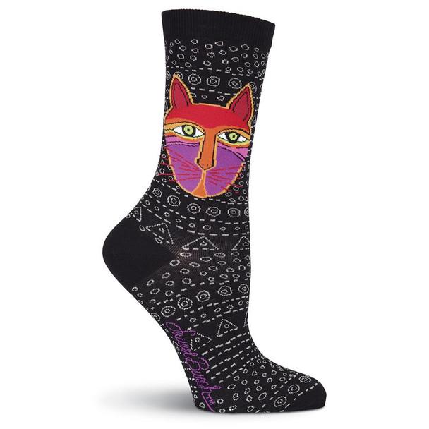 Laurel Burch Native Cats Crew Socks LBWS16H047-01