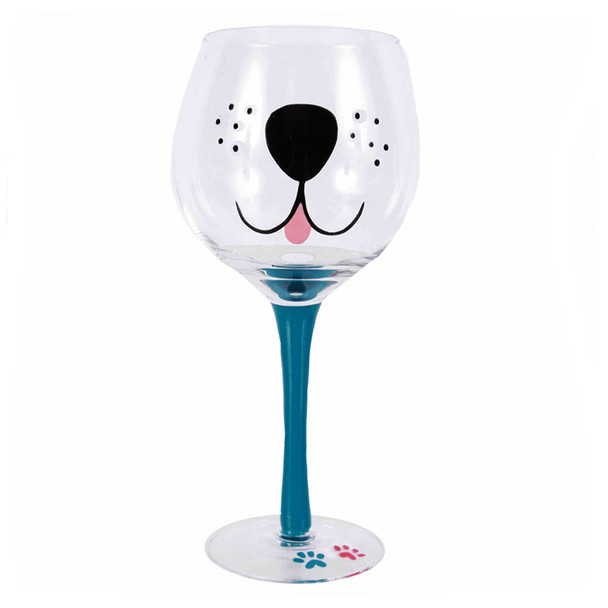 Dog Puppy Face 18oz Wine Glass 40216