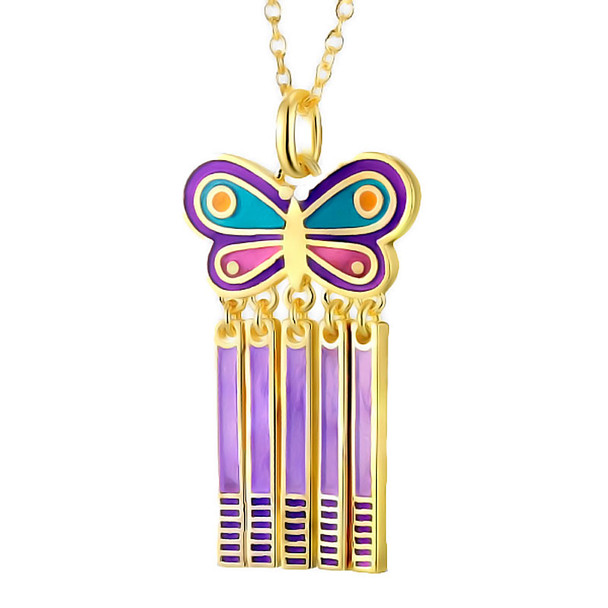 Spring Butterfly Laurel Burch Necklace - 5102