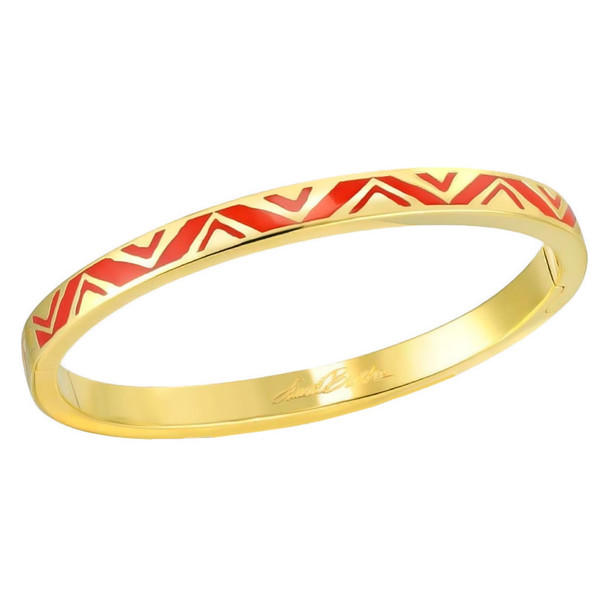 Rain Dance Red Gold-tone Laurel Burch Bangle Bracelet - 6053