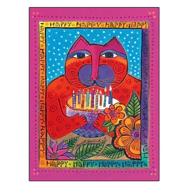 Laurel Burch HAPPY HAPPY HAPPY Birthday Card BDG17042