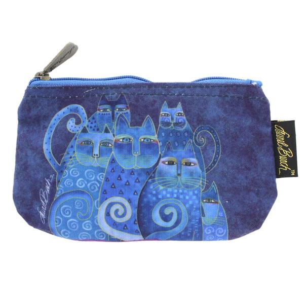 Laurel Burch Indigo Cats 7x4 Cosmetic Bags LB5332A (LB5332A)