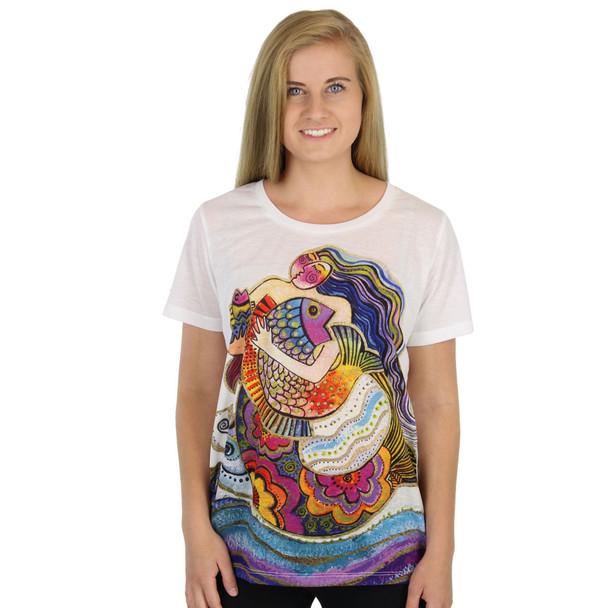 Laurel Burch Tee Shirt Daughter Mikayla Mermaid LBT040
