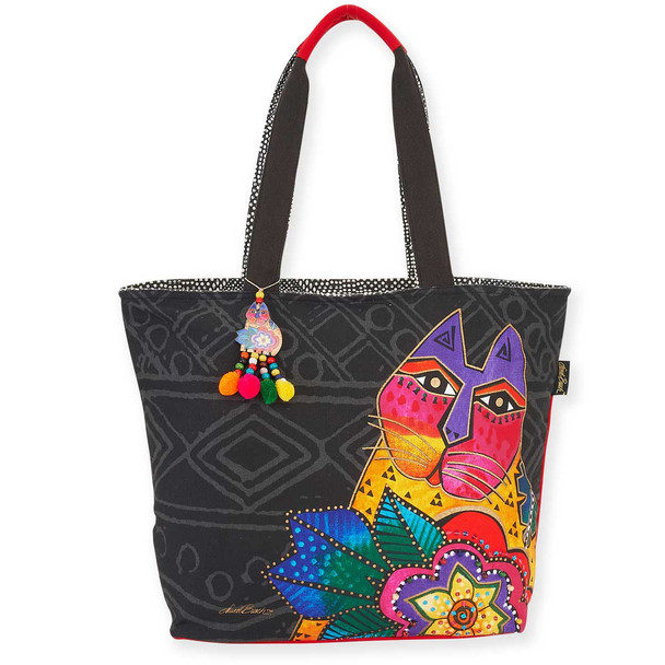 Laurel Burch Mara Cat Shoulder Tote
