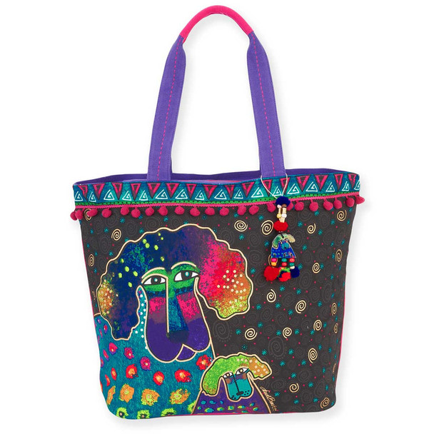 Laurel Burch Poodle and Pup Shoulder Tote