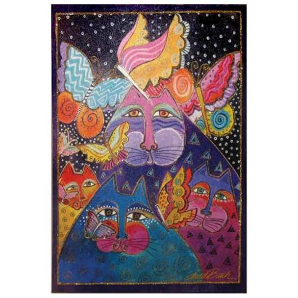 Laurel Burch Canvas Felines Flytterbyes Cat 10x15 Wall Art LB26030