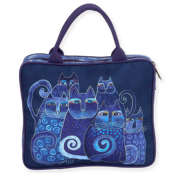 Laurel Burch Large Cosmetic Bag Indigo Cats LB5900C