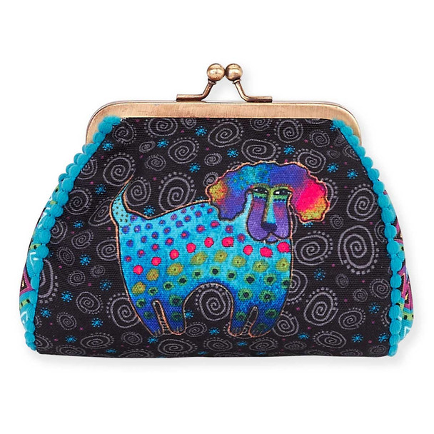 Laurel Burch Coin Purse Poodle and Pup