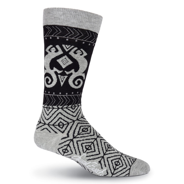 Men's Laurel Burch Lizard Shapes Crew Socks
