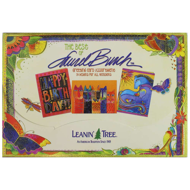 Laurel Burch Best of Greeting Card Assortment - 20 cards: Front View