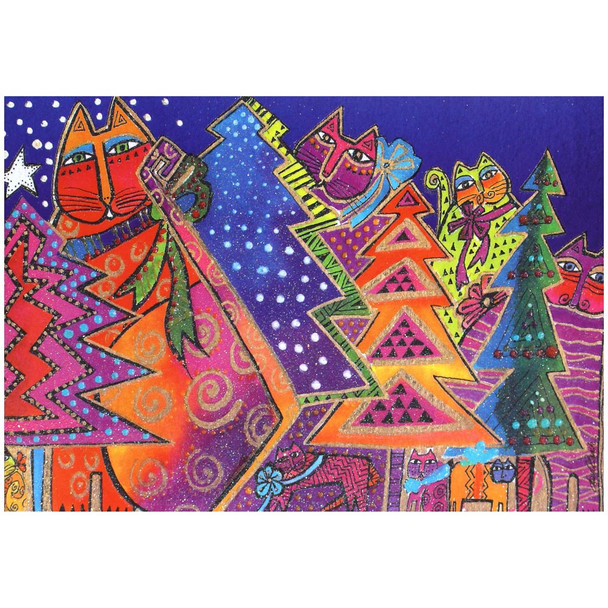 Laurel Burch Happy Holidays Christmas Cards 10 Box C74737