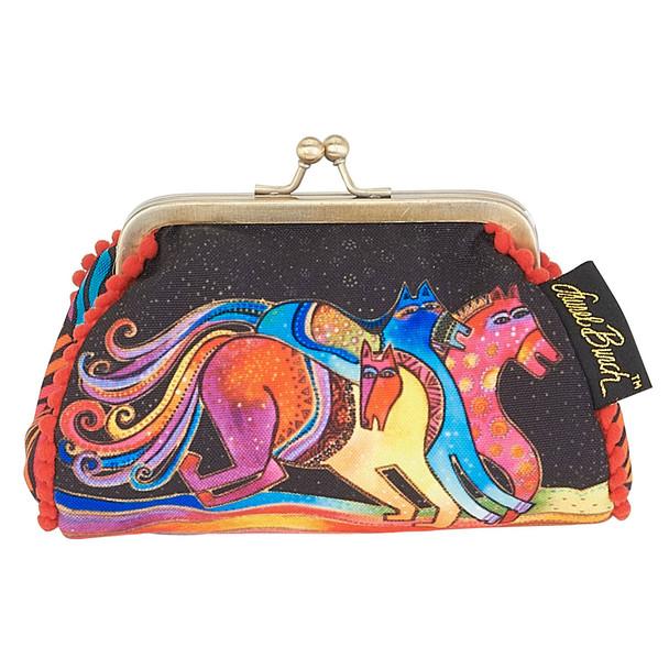 Laurel Burch Coin Purse Caballos de Colores Horses LB5902F