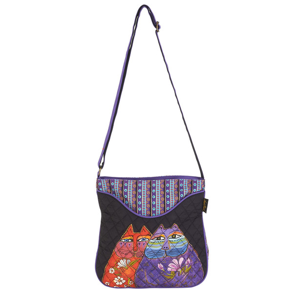 Laurel Burch Two Wishes Quilted Crossbody Tote - LB6001