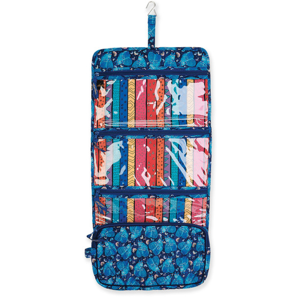 Laurel Burch Indigo Cats Quilted Toiletry Organizer Bag LB6329