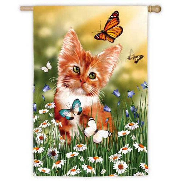 Wishful Kitten House Flag 131939