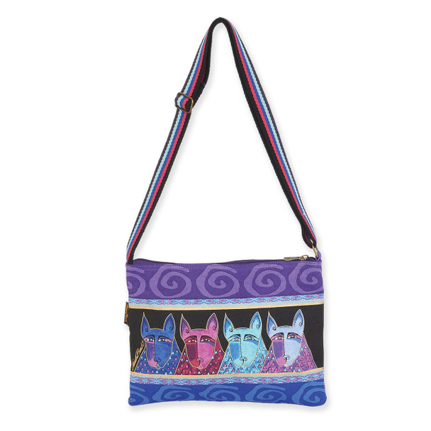 Laurel Burch Canine Tribe Crossbody Tote - LB6073