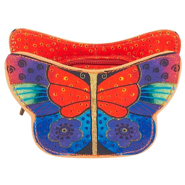 Laurel Burch Butterflies Coin Purse - RED - LB6180A