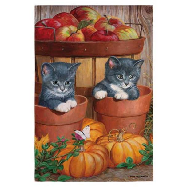Kittens and Pumpkins Garden Flag 141846