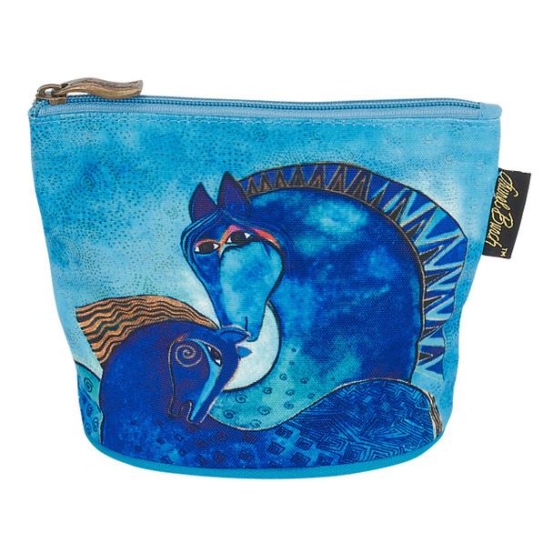 Laurel Burch Mythical Horses Cosmetic Clutch Pouch Aquatic LB6290B