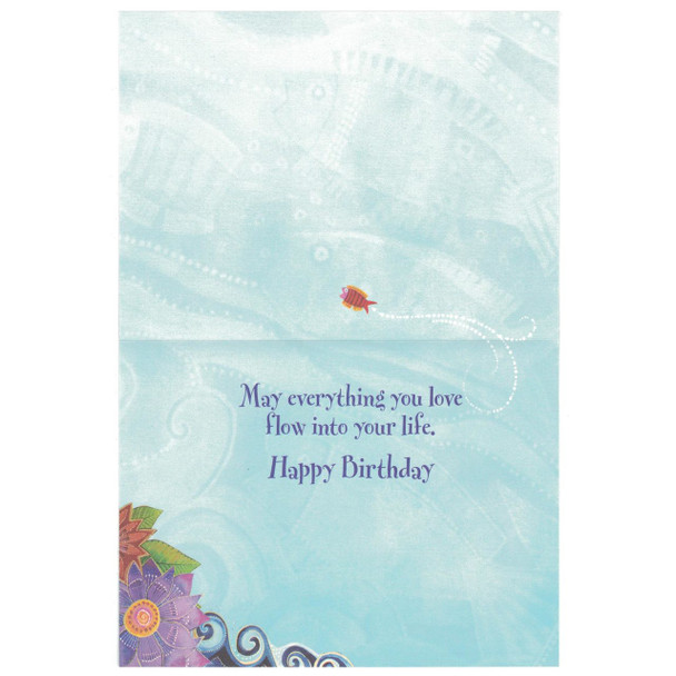 Laurel Burch Birthday Card - Mermaid Mural - 20730