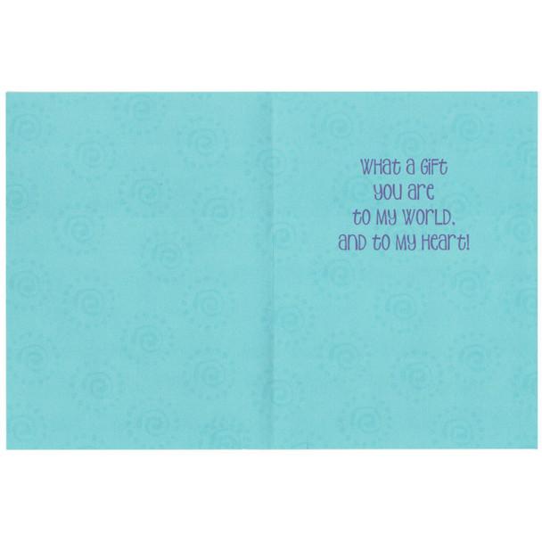 "Laurel Burch Friendship Glitter Card ""Blue Cats"" - Inside"