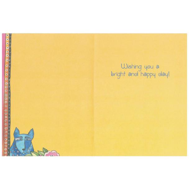Laurel Burch Friendship Greeting Card - Canine Dog Fiesta - Inside