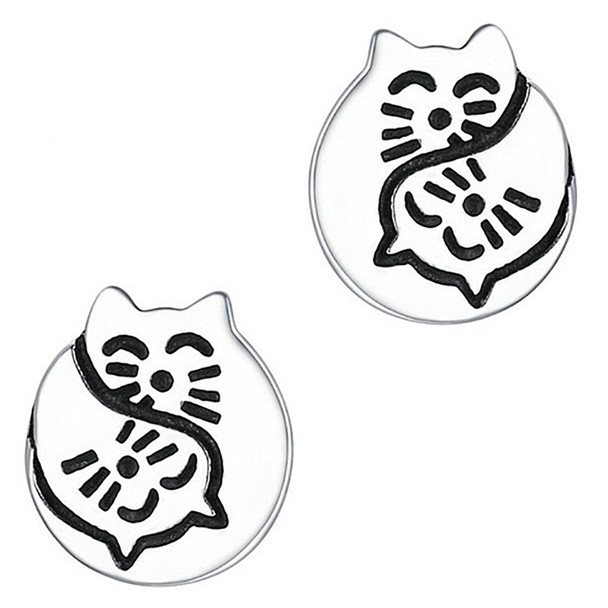 Cat Faces Stud Earrings