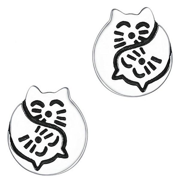 Cat Faces Stud Earrings
