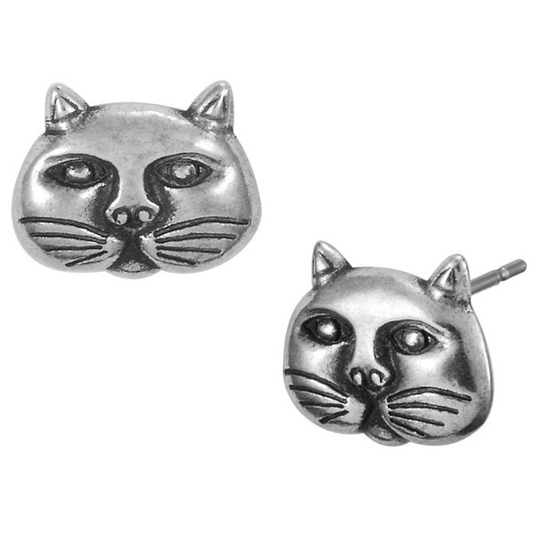 Jubilee Cat Face Post Feline Laurel Burch Stud Earrings