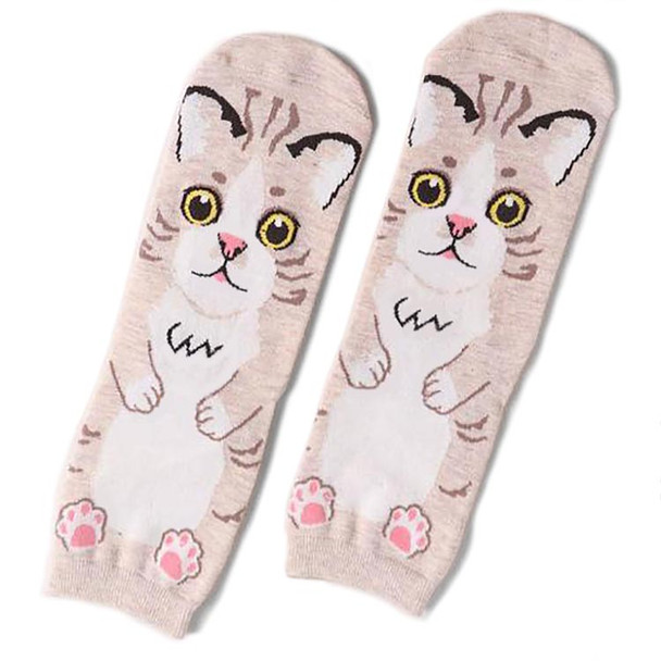 Tan Cat Body Socks