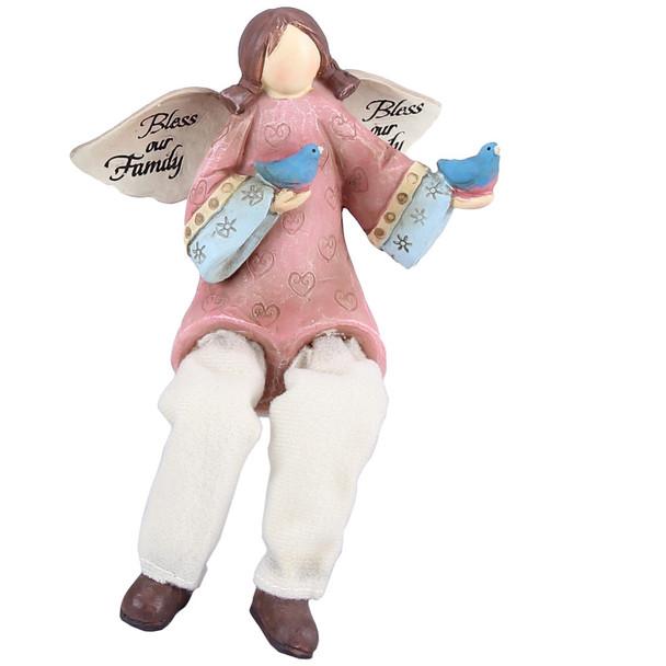 Bless Our Family - Angel Shelf Sitter Figurine - 13074