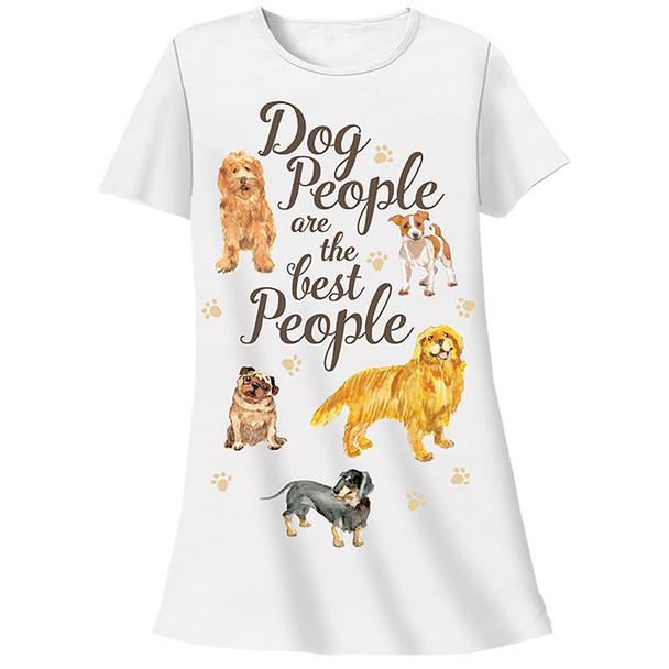Dog People are Best People Theme Sleep Shirt Pajamas