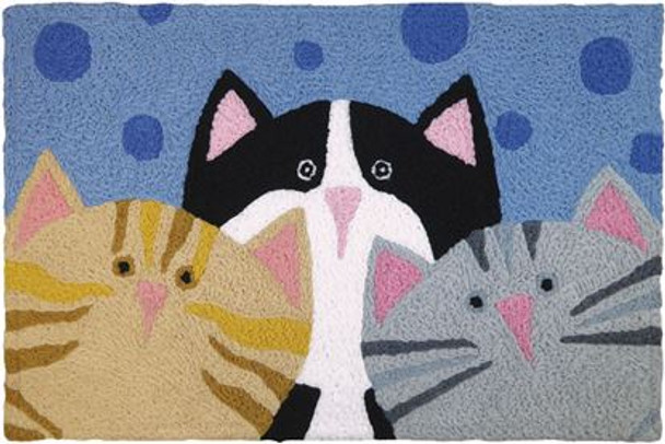 Three Kitty Cat Pack  - Floor Rug - JB-BT065