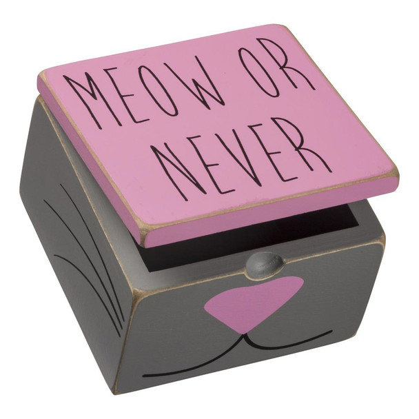 Cat Hinged Box - Meow Or Never 92080