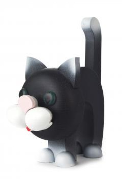Black Kitty Cat Wooden Eyeglass Holder